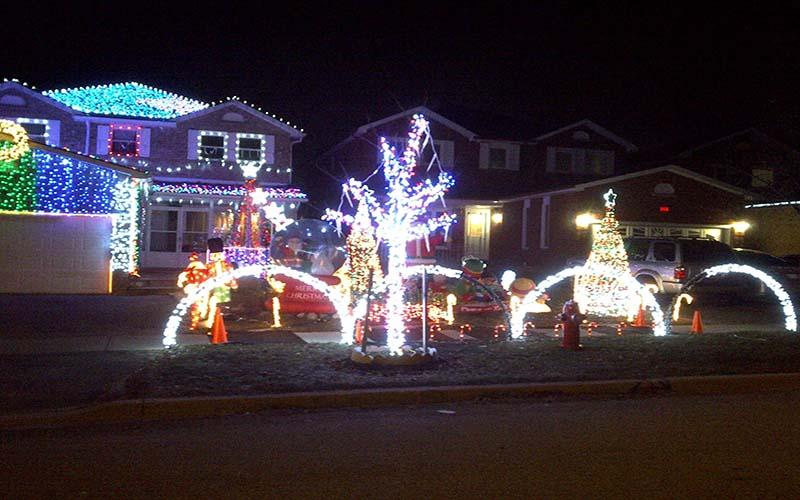Christmas light installation after