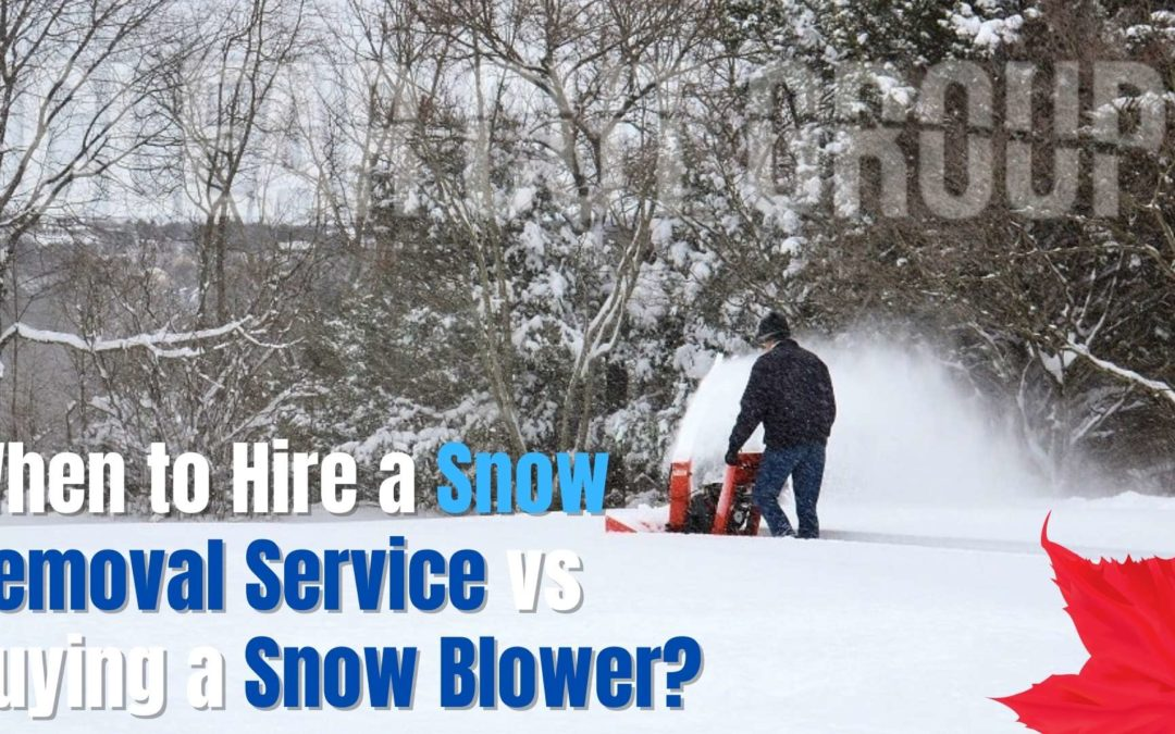When to Hire a Snow Removal Service vs Buying a Snow Blower?